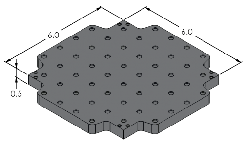 Loc-N-Load Indexable Plate Dimensions - Inch