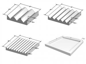 Plastic Fixture Trays - 3, 5, 9 Groove and Square
